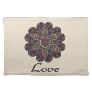 LOVE Fabric Collage Flower Inspiration Series Placemats