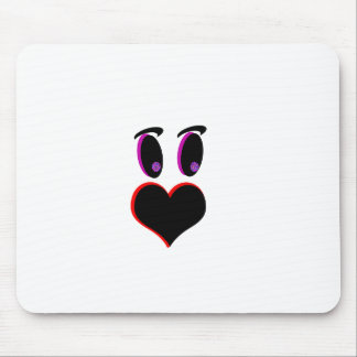 Love face mouse pad