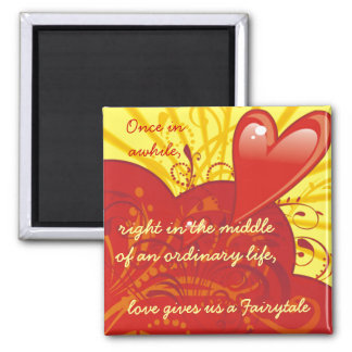Love Fairytale Quote Magnet