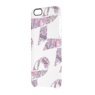Love, Faith, and Hope for Fighters Clear iPhone 6/6S Case