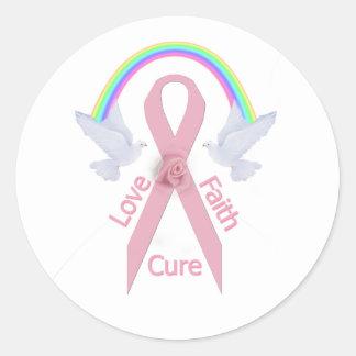 Love Faith Cure Classic Round Sticker
