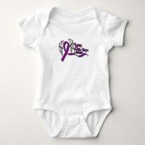 Love Faith Hope Pancreatic Cancer Baby Bodysuit
