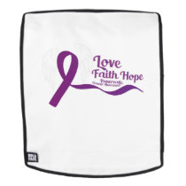 Love Faith Hope Pancreatic Cancer Backpack