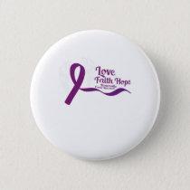 Love Faith Hope Pancreatic Cancer Button