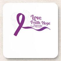 Love Faith Hope Pancreatic Cancer Coaster