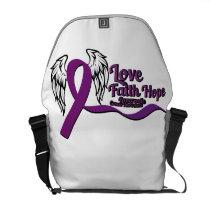 Love Faith Hope Pancreatic Cancer Courier Bag