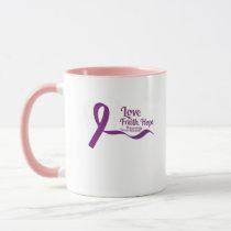 Love Faith Hope Pancreatic Cancer Mug