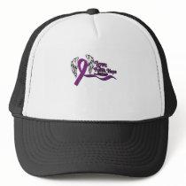 Love Faith Hope Pancreatic Cancer Trucker Hat