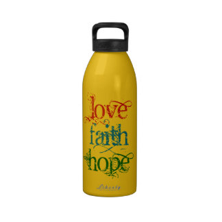 LOVE FAITH HOPE WATER BOTTLES