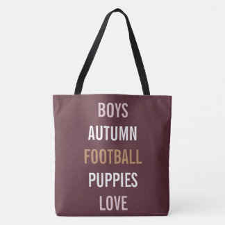 Love Fall Autumn Breeze Tailgate Party Tote Bag