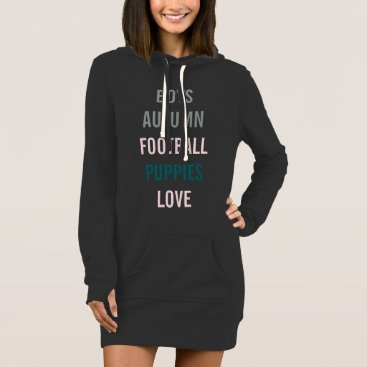 Bride Themed Love Fall Autumn Bride Tailgate Party Hoodie Dress