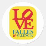 LOVE FALLES YELLOW STAMP ETIQUETAS