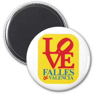 LOVE FALLES YELLOW STAMP IMÁN REDONDO 5 CM