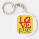LOVE FALLES YELLOW STAMP LLAVEROS PERSONALIZADOS