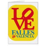LOVE FALLES YELLOW STAMP TARJETAS