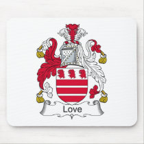 Love Family Crest Mousepad