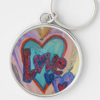 Love Family Hearts Art Word Painting Keychain