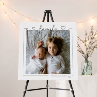 Love Family Personalized Photo and Text Typography Foam Board