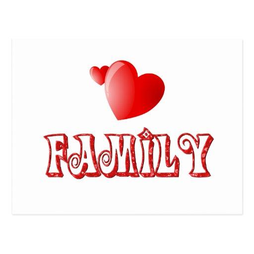 Love Family Postcard