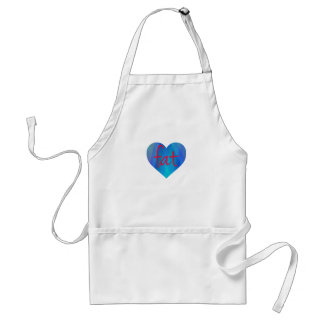 Love Fat (Blue and Red) Adult Apron