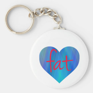Love Fat (Blue and Red) Key Chain