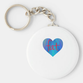 Love Fat (Blue and Red) Keychains