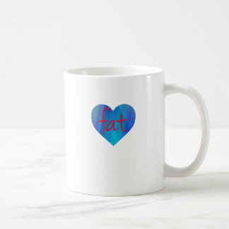 Love Fat (Blue and Red) Coffee Mugs