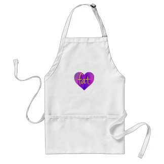 Love Fat (Purple and Yellow) Adult Apron
