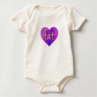 Love Fat (Purple and Yellow) Bodysuit