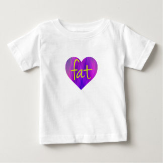 Love Fat (Purple and Yellow) Tees