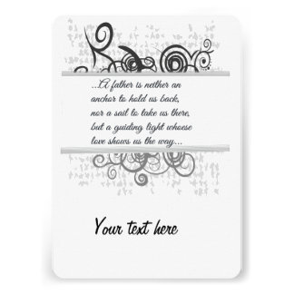 Love Father-Guiding light Personalised Invite