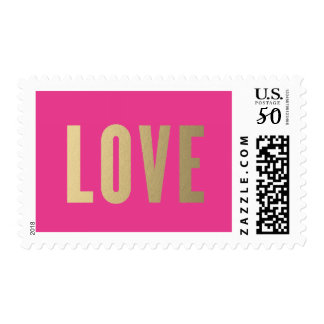 Love | Faux Gold Postage