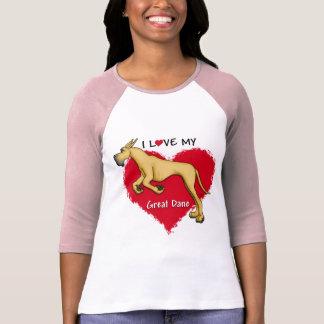 Love Fawn Great Dane T Shirt