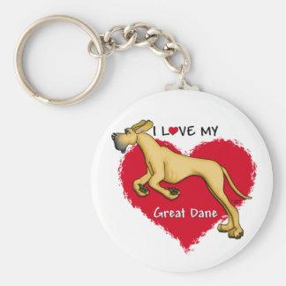 Love Fawn Great Dane UC Keychains