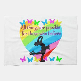LOVE FILLED INSPIRATIONAL FIGURE SKATING DESIGN TOWEL