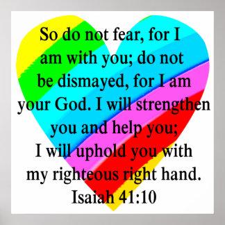 LOVE FILLED ISAIAH 41:10 DESIGN POSTER