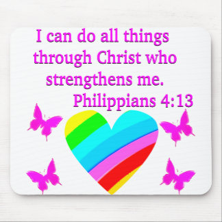 LOVE FILLED PHILIPPIANS 4:13 DESIGN MOUSE PAD