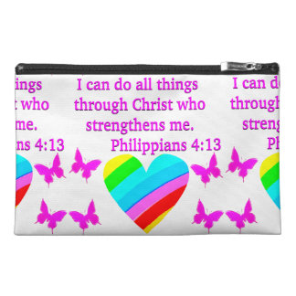 LOVE FILLED PHILIPPIANS 4:13 DESIGN TRAVEL ACCESSORY BAGS