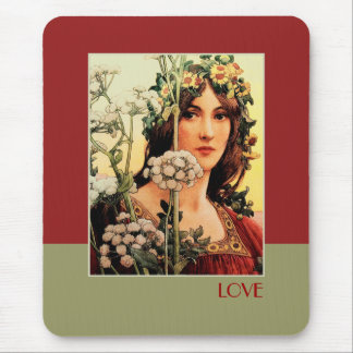 Love. Fine Art Valentine's Day Gift Mousepads