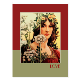 Love. Fine Art Valentine's Day Postcards