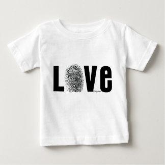 Love Fingerprint Black and White Baby T-Shirt