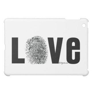 Love Fingerprint Black and White iPad Mini Case