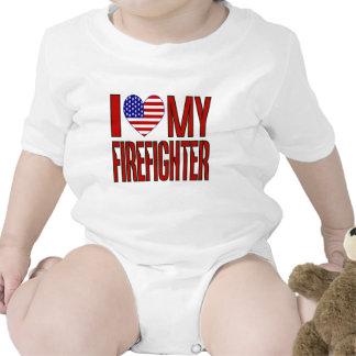 Love Firefighter Baby Bodysuit