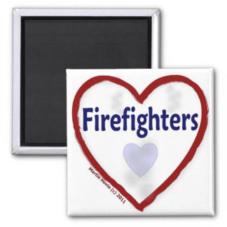 Love: Firefighters - Magnet