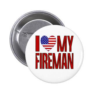 Love Fireman Red Pin