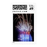 Love Fireworks 978 Postage Stamp