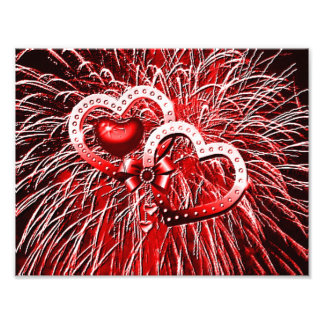 Love Fireworks,red Photo Print