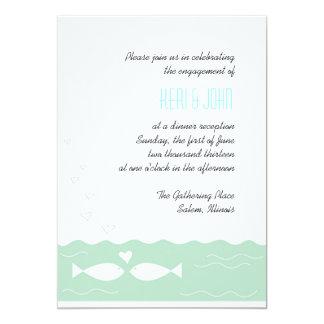Love Fish 2 5x7 Paper Invitation Card