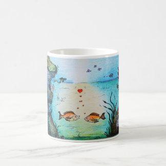 Love Fish Cartoon Coffee Mug