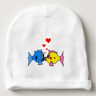 Love fish for baby - baby beanie